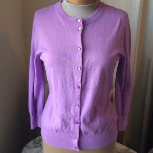J. Crew factory lavender cardigan M